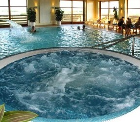 Expensive indoor lap pool spa hot tub Jacuzzi in Ziyang
